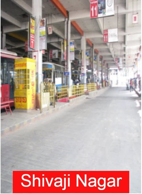 Shivaji nagar Location in Bangalore