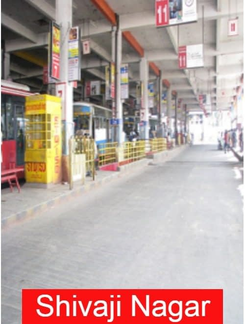 Shivaji nagar Location in Bangalore