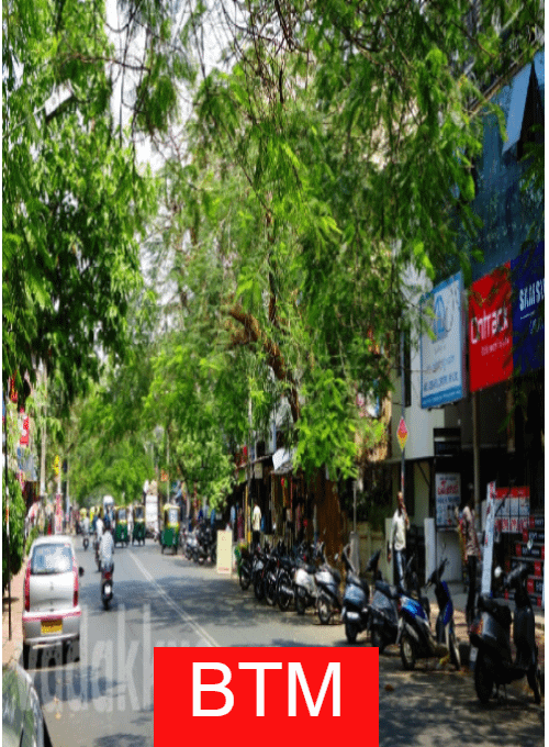 Road in BTM Bangalore